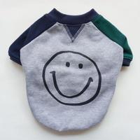 smileスウェットTシャツ // グリーンネイビー
