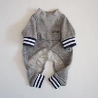 tititiのスウェットusude:ロンパース//ネイビー×ホワイト       【フレブル服TiTiTi】