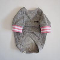 tititiのスウェットusude:ラグランTシャツ//ピンク×ホワイト         【フレブル服TiTiTi】