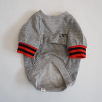 tititiのスウェットusude:ラグランTシャツ//レッド×ブラック         【フレブル服TiTiTi】