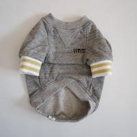 tititiのスウェットusude:ラグランTシャツ//ホワイト×ゴールド         【フレブル服TiTiTi】