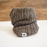 アラン編み風ニットのスヌード//チョコ*フレブル服TiTiTi