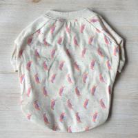 オウムさんのラグランTシャツ // ピンク     [フレブル服TiTiTi]