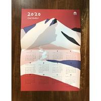 2020 落合恵山のカレンダー(赤)