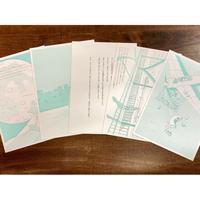 「月で読むあしたの星占い」活版印刷ポストカード5枚セット