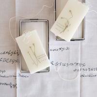 card_yaさんの蜜蝋の植物標本   botanical tablet   カモミール