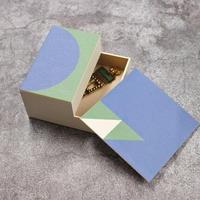 KAMI-BAKO BLUE-GREEN/W