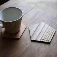 【送料無料】国産無垢材のコースター×野草茶のギフトセット
