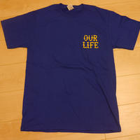 """OUR LIFE SOCKS """"FIRE BARREL"""" 限定DUBSカラー S/Sシャツ (BLUE"""