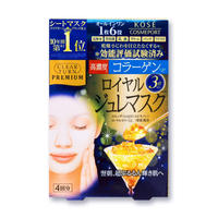 KOSE CLEAR TURN PREMIUM Royal Jelly Mask Collagen + Coenzyme Q10 4sheets