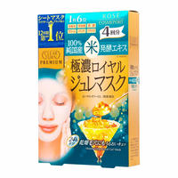 KOSE CLEAR TURN PREMIUM Royal Jelly Mask Rice fermentation extract 4sheets