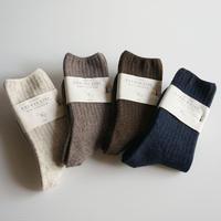 単色リブソックス/TAURUS wool