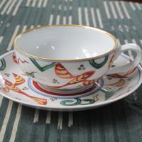 痴陶人(伊万里陶苑)魚藻紋新紅茶碗皿