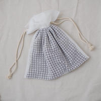 巾着バッグ(ホワイトチュール)
