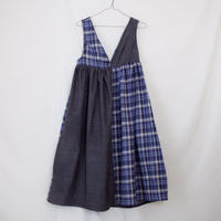 ジャンパースカート(グレー×チェック2)
