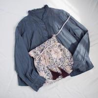 vintage風巾着バッグ(pink)
