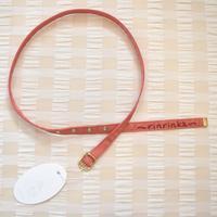 梨凛花 Embroidery logo belt  赤