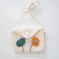 mepi  mon sac fleuri pochette orange×blue