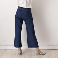 チュールコンビネーションスリングバックヒールパンプス / Tulle combination sling back heel pumps L0216 (BLUE)