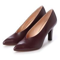 ポインテッドVカットヒールパンプス/ Pointed V-cut heel pumps L0193(WINE)