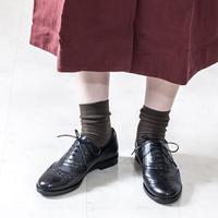 ウイングチップレースアップシューズ / Wing Tip Lace-Up Shoes L0168 (BLACK)