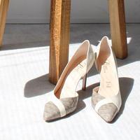 ポインテッドトゥセパレートヒールパンプス/Pointed to separate heel pumps L0224(IVORY/C)