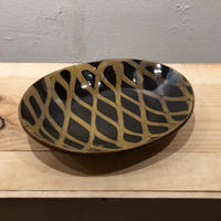 齊藤十郎 楕円カレー皿(黒)