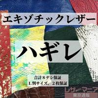 エキゾチックレザー各種・ハギレ革【合計8デシ保証】全2種 / 9900