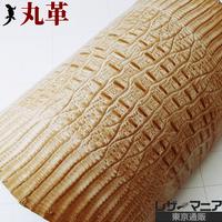 ジャクルシー革【15×15cm品質保証】ベージュ/ ツヤ/ 0519