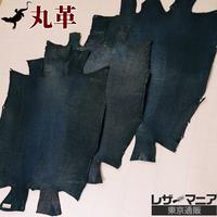 トカゲ革【三匹】シャドウアイアンブルー/半ツヤ仕上げ/背割り/0416