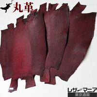 トカゲ革【三匹】シャドウレッド/半ツヤ仕上げ/背割り/0413