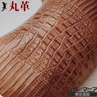 ジャクルシー革【15×15cm品質保証】ライトブラウン/ ツヤ/ 0524