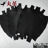 トカゲ革【三匹】黒/半ツヤマット仕上げ/背割り/0397