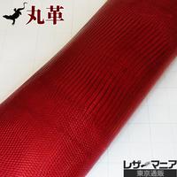 トカゲ革【最大幅32cm】レッド/ツヤ強/ 背割/0481