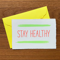"""メッセージカード """"元気でいてね"""" / Greeting Card """"STAY HEALTHY"""""""
