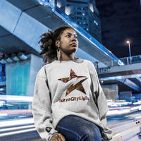 "CREW SWEAT ""STAR CAMO"" 【 GRAY / M 】"