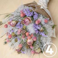 母の日スワッグ④淡いピンク紫っぽい(5月中旬発送)