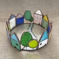 ステンドグラス街のトレイ・Glass&Art MOMO
