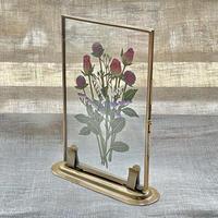 紙の花屋 asanochiaki「バラとスターチスの花束」