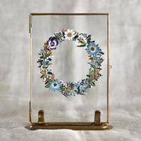紙の花屋asanochiaki「etre fleur bleue のリース」