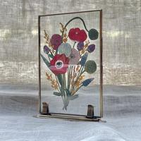 紙の花屋 asanochiaki「アネモネとミモザの花束」