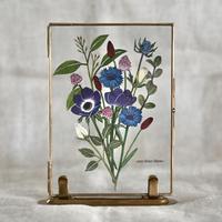 紙の花屋asanochiaki「青いアネモネの花束」