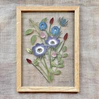紙の花屋 asanochiaki「アネモネの花束」