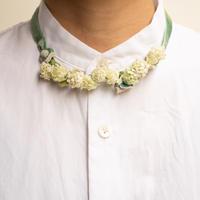 feltico×東京植物図譜「白詰草の首飾りとスモークツリー」
