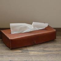 tissue box jacket キャメル