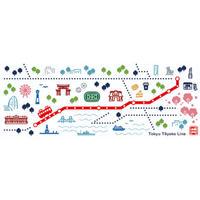 東急線てぬぐい(東横線)
