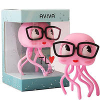 Aviva - the Pink and Curious Jellyfish by Ronen Lalena