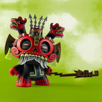 "parallel import / 8"" Tlaloc Dunny by Jesse Hernandez"