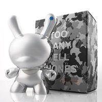 "Too Many Cell Phones 8"" Dunny Silver Edition by Zeitgeist Toys"