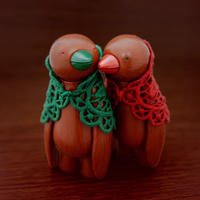 Mulled Xmas Ji Ja set of red  & green by mr clement